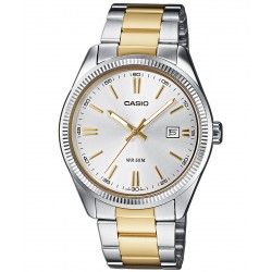 CASIO COLLECTION two-tone stainless steel bracelet MTP-1302PSG-7AVEF