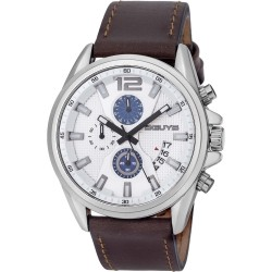 3GUYS CHRONOGRAPH brown leather strap 3G49002