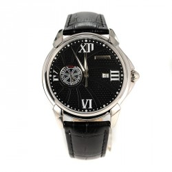 SWISS GOLFER black leather strap BM846