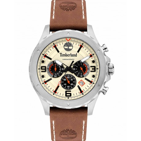 Timberland GREEENSBORO brown leather strap TBL15634JS/07
