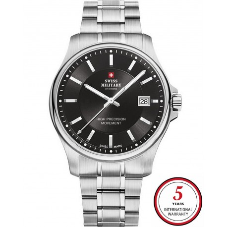 SWISS MILITARY by CHRONO Mens stainless steel bracelet SM30200.01