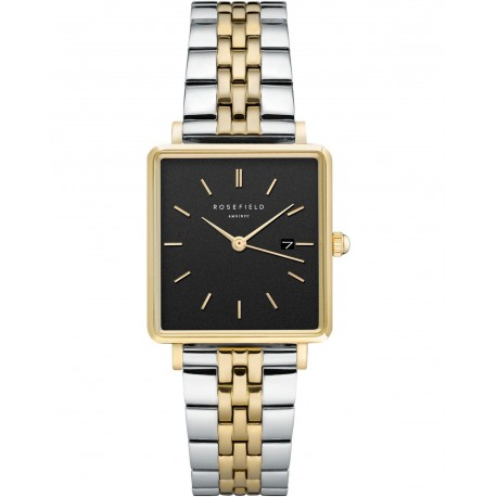 ROSEFIELD THE BOXY two-tone black dial QVBGD-Q015